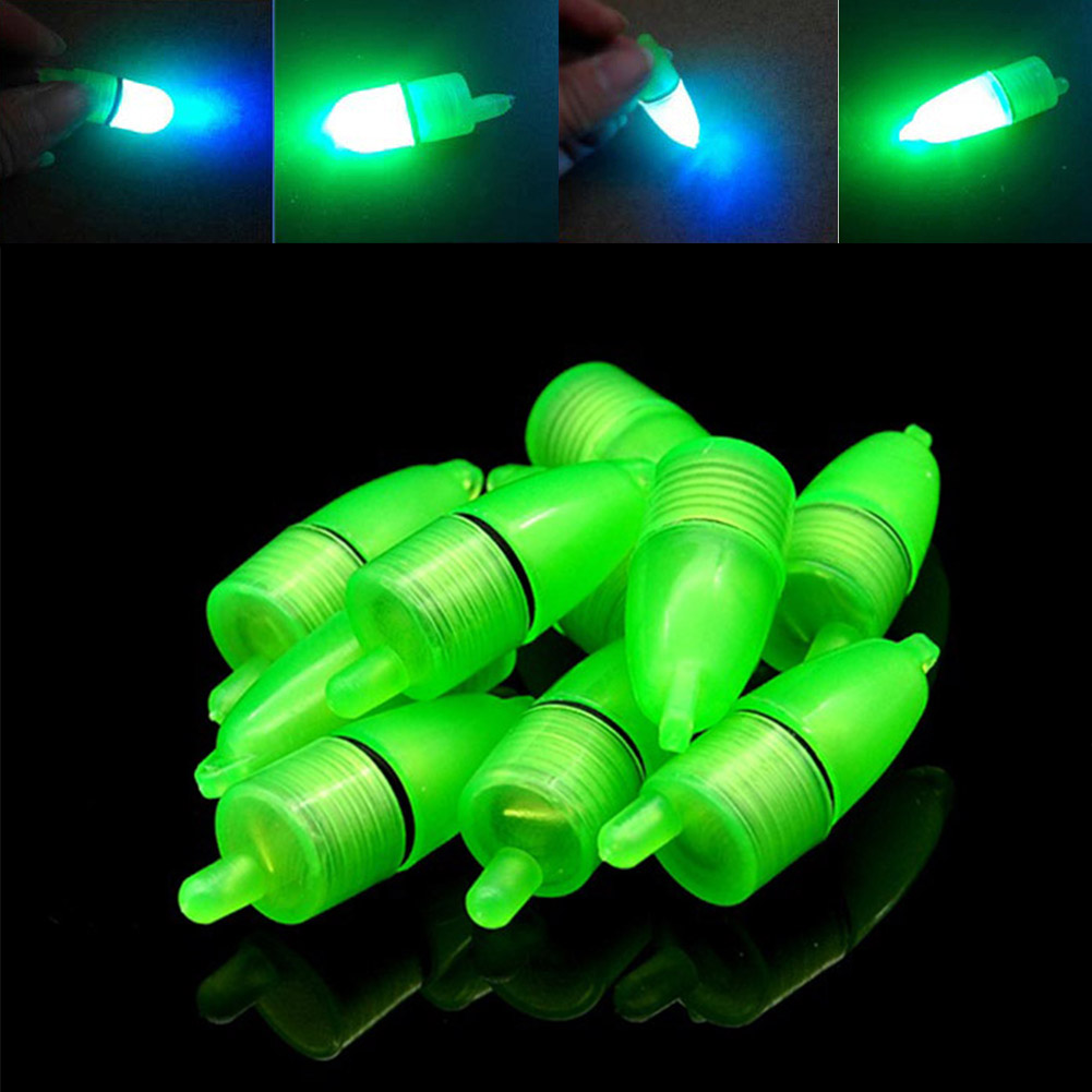 New 10 Pcs LED Light Night Float Fishing Rod Bite Shing Accessories CLH@8