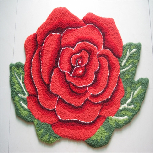 Romantic Art Red Rose Floor Mat 8060cm Pink Flower Rug Carpet For