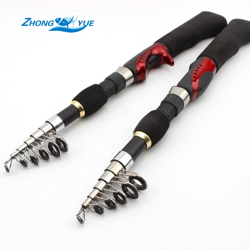 Promotion! NEW 1.4m 1.65m Telescopic Protable Carbon Spinning Casting Fishing Rod Ice Fishing Rod Sea Free shipping