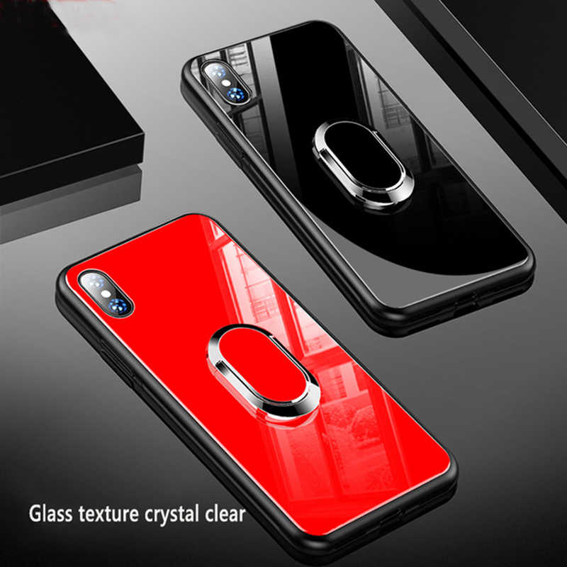 3D Magnetic Case for iPhone 11 X XR XS Max Pro Glass Case for iphone 8 7 6 6S Plus Luxury Protective Back phone Cover Shockproof