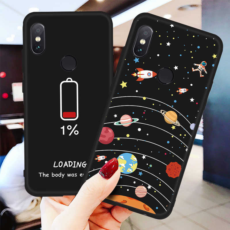 Cool Space Case For Xiaomi Mi 9 A2 8 Lite Pocophone F1 Mix 3 2S For Redmi 7 Note 7 6 5 Pro S2 6A 5A 5 Plus 6 Pro Soft TPU Cover