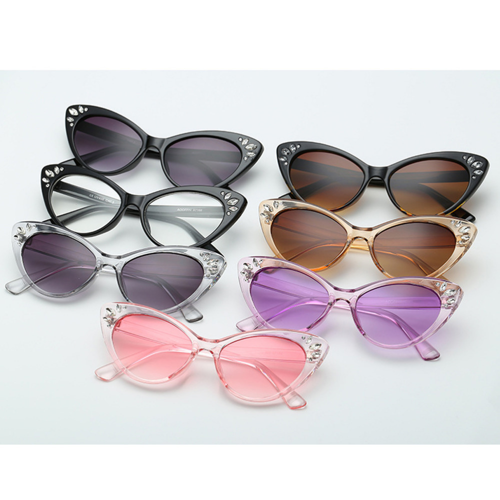 a1500aa0295c6 cat eye Women Sunglasses Fashion Round Ladies Vintage Retro Brand Designer  Oversized Female Sun Glasses oculos