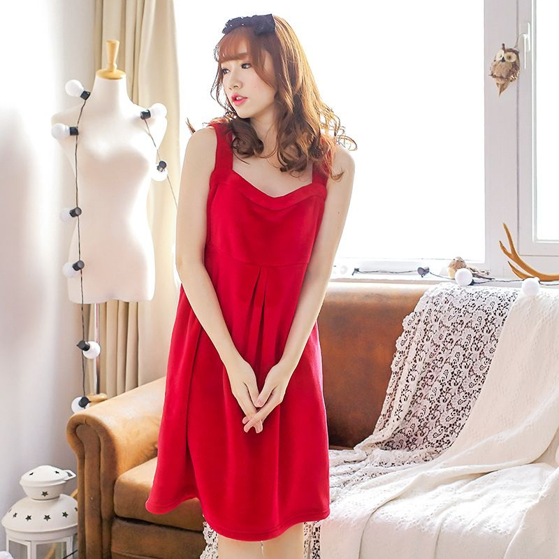 2017 Winter Female flannel fleece bathrobes Casual Solid Sexy Warm Pajamas Cute pink nightgown robe 102903