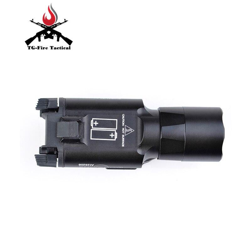 arma pistola lanterna lanterna 370 lumen com picatinny rail 05