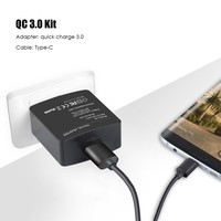 18W Quick Charge 3 0 Wall Charger Adapter Micro USB OR Type C Cable EU US