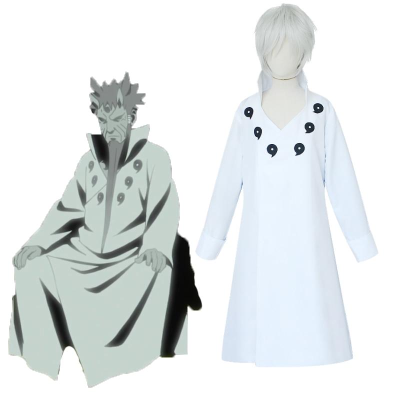 Anime NARUTO Cosplay Costume Ootutuki Hagoromo White Cloak Cosplay Costumes Halloween Carnival Party Cosplay Costume