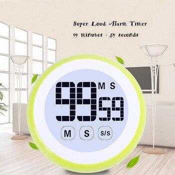 Regalo Idea pantalla táctil Digital cocina temporizador alarma reloj cuenta regresiva magnética LCD temporizador alarma recordatorio colorido