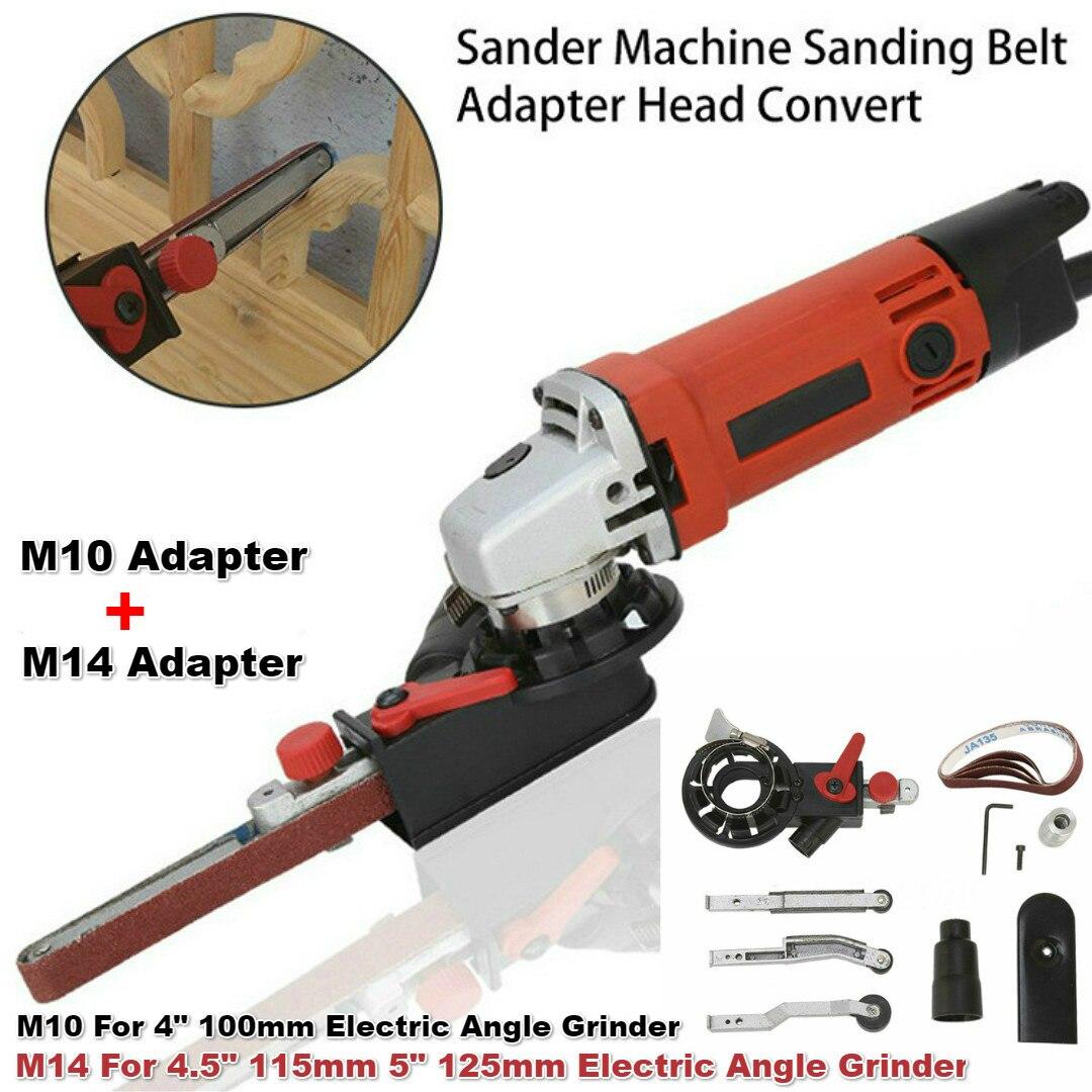 M10/M14 DIY Sanding Belt Head Electric Drill Angle Grinder Machine Sharpener Engraver Sanding for 4-5 Electric Angle GrinderM10/M14 DIY Sanding Belt Head Electric Drill Angle Grinder Machine Sharpener Engraver Sanding for 4-5 Electric Angle Grinder