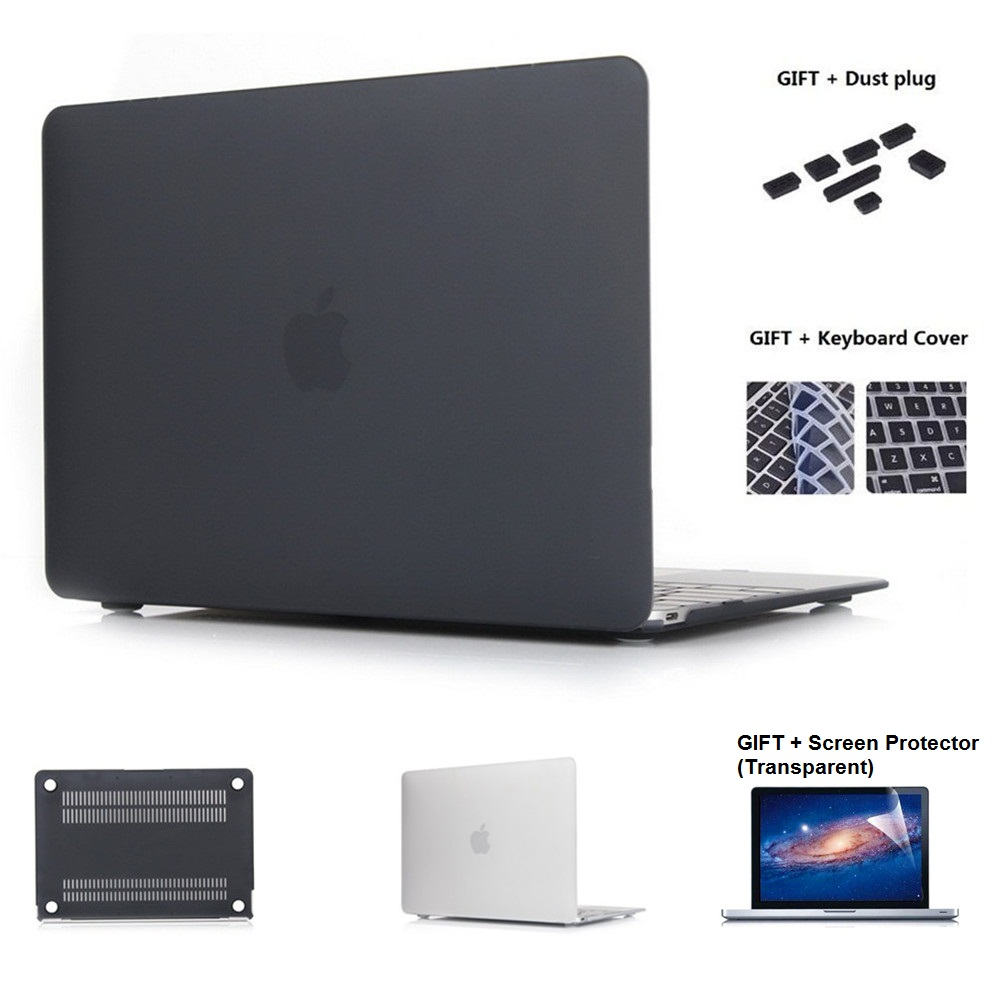 QUWIND Opaque Crystal Series Hard Case Protector For MacBook 12 Inch Air 11 13 Inch Pro 13 15 Inch Pro Retina 13 15 Inch 2018