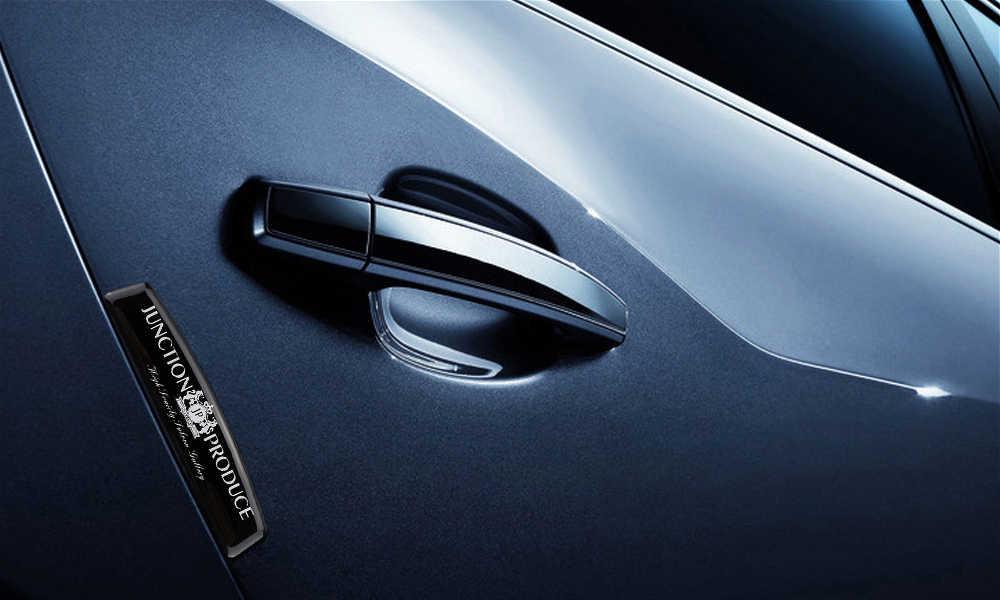 Car Styling Auto Porta Strisce Paraurti Anti Scratch Sticker Per JP Logo Per Honda Toyota Lexus Benz Mazda Nissan Subaru KIA BMW Audi