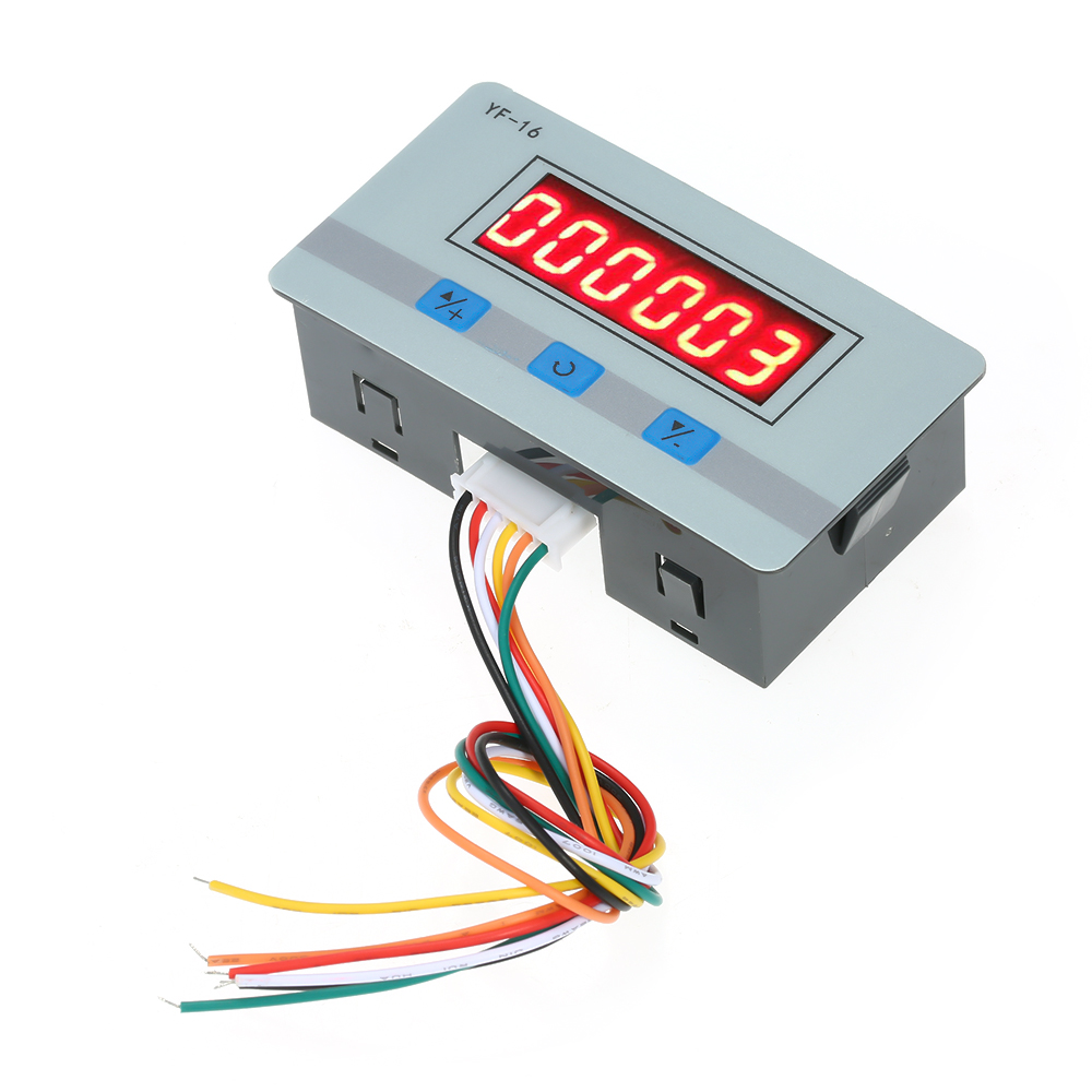Digital Counter Module DC/AC5V~24V Hour Meter Mini Calculator Electronic Totalizer With NPN And PNP Signal Interface
