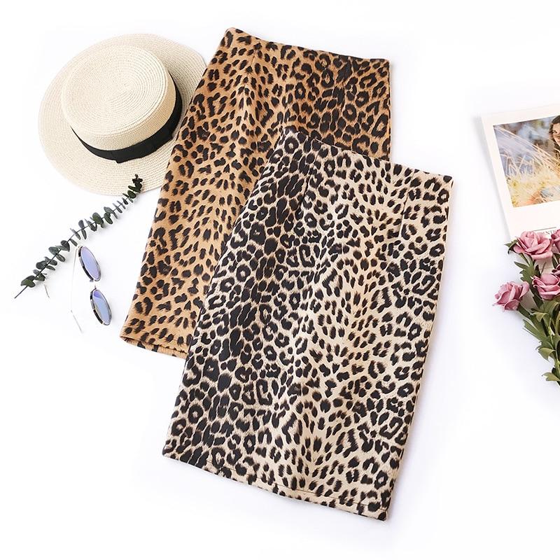 Женская юбка в стиле ретро, юбка с леопардовым принтом и высокой талией, новая модель на осень и зиму, 2019, юбка для путешествий, юбка-пачка, 2019