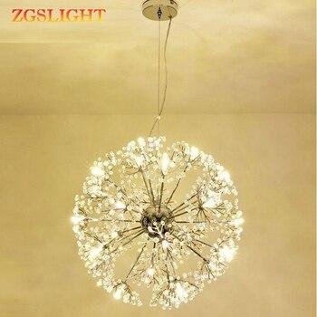 Dandelion Modern LED Crystal Pendant Lamp Chandelier Light Fixture For Dining Room Bedroom Lustres de Cristal AC110V~240V