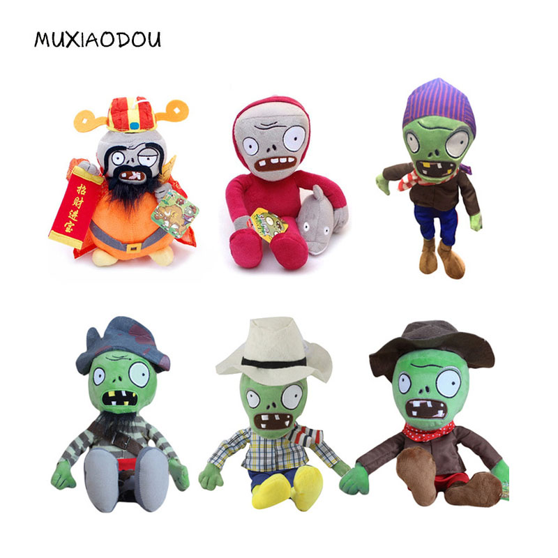 MXD Plants vs Zombies Stuffed Toys Doll 30cm Kawaii Plush Children Kids Toys Birthday Gift Plants vs . Zombies Plush Toys new arrival 30cm plants vs zombies pvz 2 chicken wrangler zombie plush toys soft stuffed toys doll for kids children xmas gift
