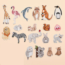 Many Small Land Animals Badge Patch Embroidered Patches For Clothing Iron On Close Shoes Bags Badges Embroidery DIY