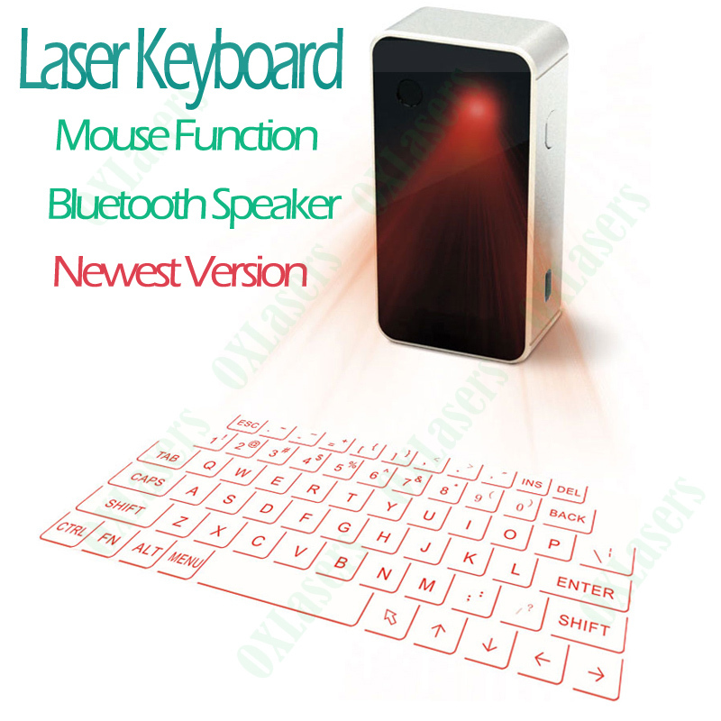 OXLasers Cool Virtual Wireless Bluetooth Projection Laser Keyboard with Mouse Function and Bluetooth Speaker Free Shipping