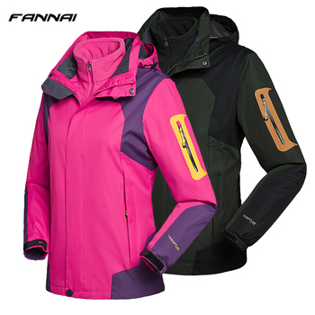 Winter Camping Hiking Jackets Waterproof Windbreaker Heated Fleece Softshell Jacket Outdoor Trekking Climbing Coat For Women/Men
