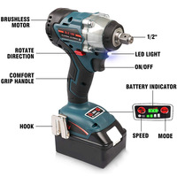 Replacement 18V Brushless 1/2 Inch Impact Wrench for Makita DTD152 DTD170 Accessories