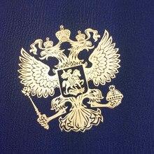 Escudo emblema nacional de la Federación Rusa Escudo de Rusia níquel águila pegatinas de Metal Calcomanía para Laptop Notebook teléfono pegatina