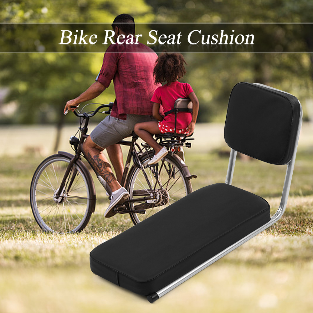 Child Seat For Bicycle Long Bike Rear Seat Cushion Bicycle Saddle Bike Rack Cushion For Kids With Backrest Bicycle Parts