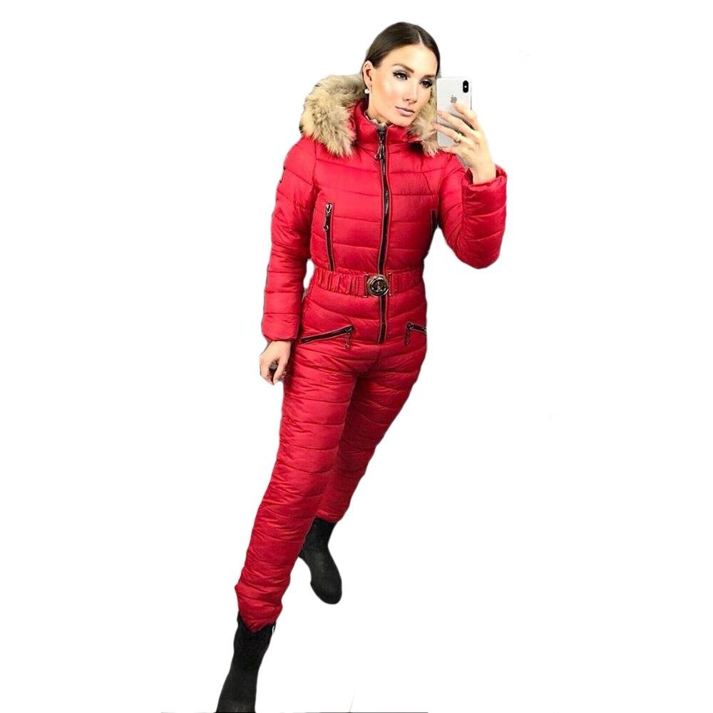Ensemble de vêtements d'hiver pour femmes combinaison de Ski de haute qualité combinaison de Ski intégrée pour femmes