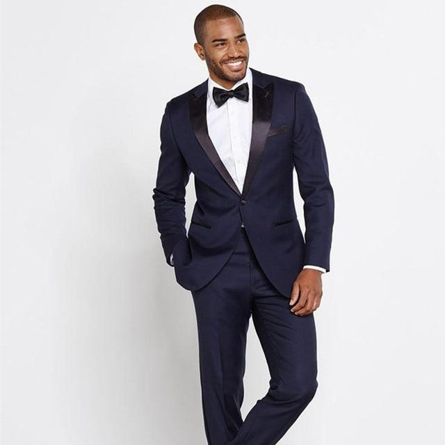 Mens Floral Blazer TuxedoSlim Fit groom navy suit Black Lepal ...