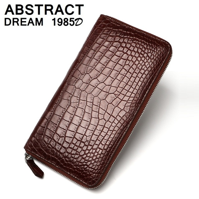 men Wallet real Alligator leather wallets Business fashion wallet Classic purse luxury 2019 new Multifunction men's Long clutch