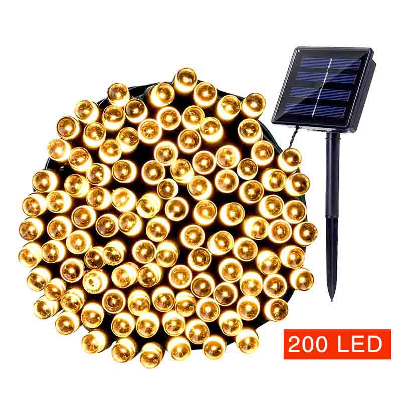 200 LED Solar String Light Outdoor Led Strip Garland For Garden Decoration Solar lamp String Christmas Lights Luminaria Energia bandai фигурка dragon ball z pastel color ver majin boo