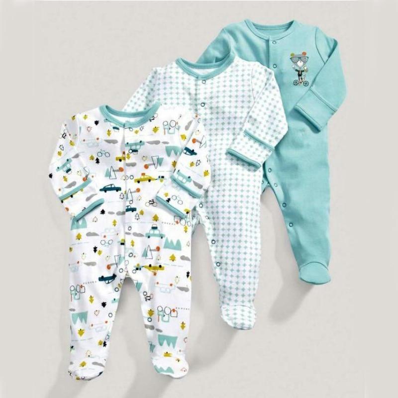 3 шт., Детские хлопковые комбинезоны для новорожденных девочек, детская одежда, модный детский зимний комбинезон для мальчиков, детская одеж...