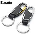 2017 New High Quality Leather Keyrings KeyChains For Car Chaveiro Innovative Key Chains Rings Holder For Man Best Gift K264