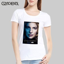 Lena Headey customize print tshirt women funny design short sleeve top solid color regular cusual Modal tee COYICHENOL