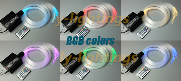 DIY fiber optic light kit home decoration optical fiber light CREE 16w RGBW LED wireless remote spark fade jump modes for sales 2016 newest touching panel controller 16w rgbw led optic fiber light engine 150pcs 0 75mm 2meter optic fiber diy light