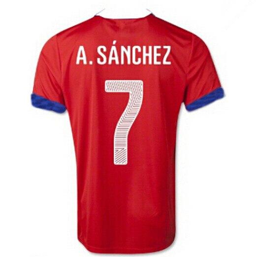 Chile Jerseys Soccer 7 Alexis Sanchez Football Shirt 8 Vidal 9 SUAZO 10  Valdivia 11 Vargas MEDEL Camisas de futebol Custom Name-in Soccer Jerseys  from ... a1b23d53f