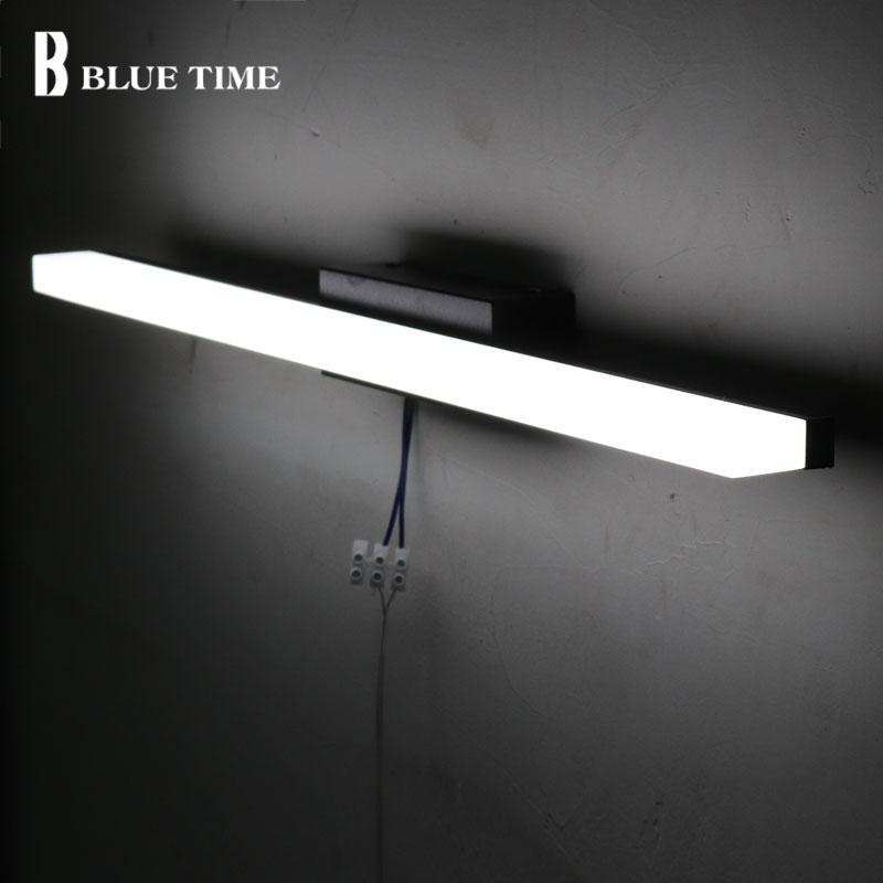Salle de bains Miroir Avant Lumière Moderne led Wall Light Wandlamp AC110V 220 V applique Mur LED Lampe Pour Salle De Bains Lampe 40 60 80 100 120 CM