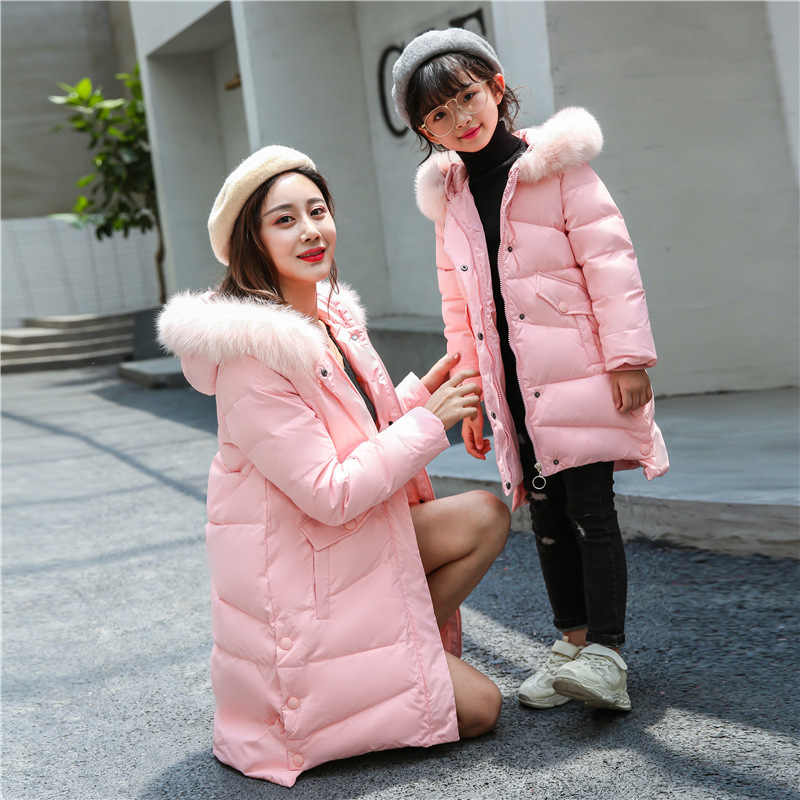 5f735df6090c Children New Winter Duck Down Jacket Parkas for Girl Hooded Thick Warm  Feather Outerwear Coats Kids