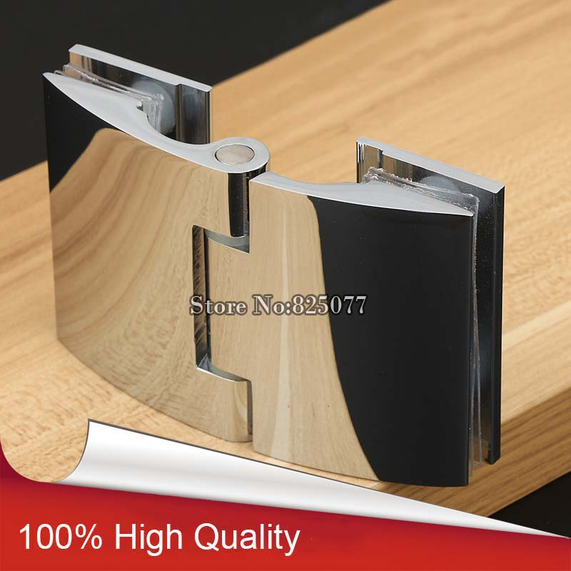 Glass to Offset Hinge for 8-12mm 3/8-1/2 Thickness Polished Chrome Shower Door