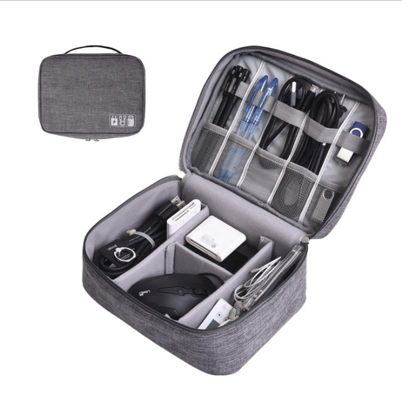 Universal Electronics Accessories Organizer/Travel Gadget Bag for Cables, Memory Cards, Flash Hard Drive, iPad Storage Bag