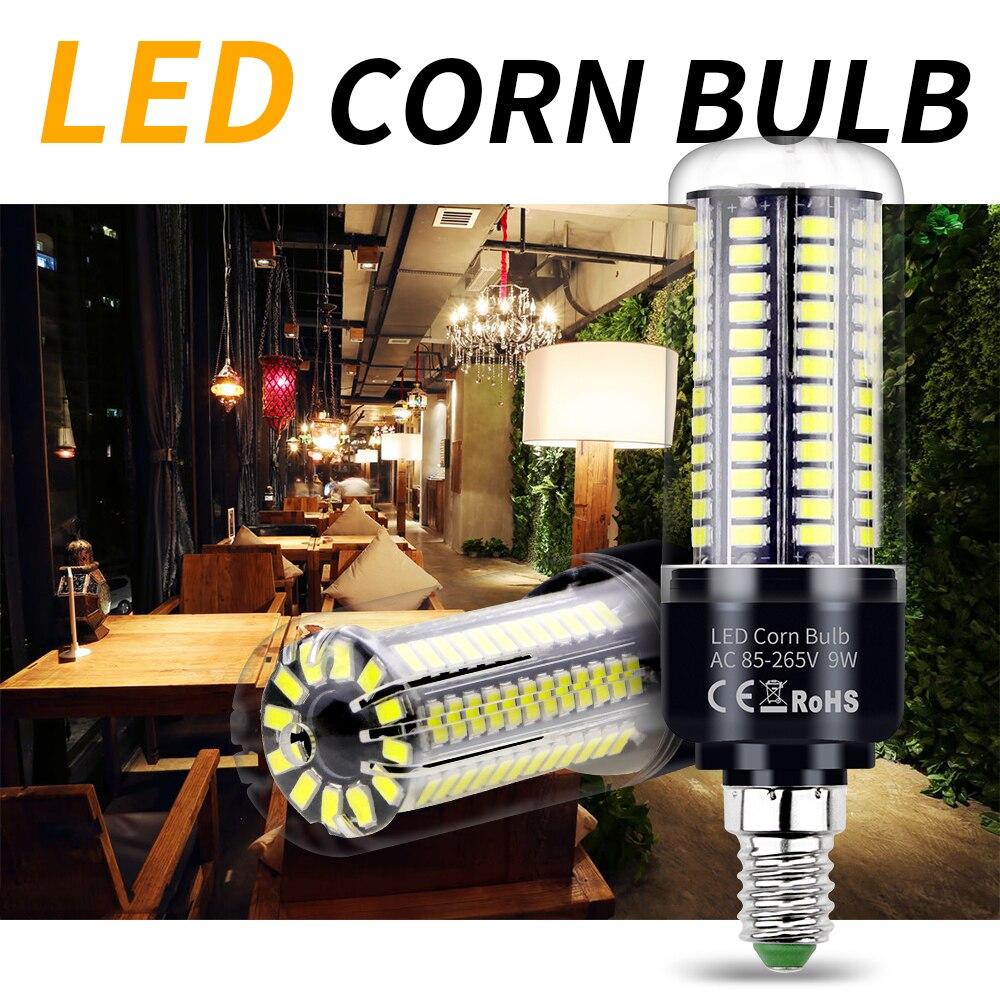 E14 E27 B22 LED Corn Bulb Light 3W 5W 7W 9W 12W 5736 SMD AC110V 220V Lamp Bright