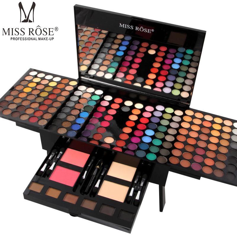 MISS ROSE Women Cosmetic Eyeshadow Palette Case Full Pro Makeup Palette Concealer Blusher Piano Shape Pro Eyeshadow Kit Beauty