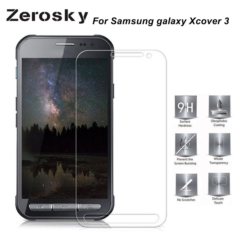 Galleria fotografica Zerosky 2pcs Tempered Glass For Samsung galaxy Xcover 3 / G388f Screen Protector Film For Samsung X Cover 3 Xcover3 Xcover 3