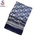 [BYSIFA] New Male Silk Scarf Spring Autumn Plaid Men Long Scarves Printed 160*26cm Fashion Accessories Winter Silk Mulffer