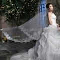 2015 The bride wedding dress veil long design lace long veil style veil 2 meters ultra long marriage