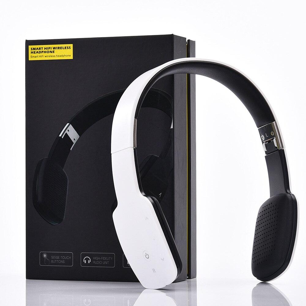 Over Ear Wireless Bluetooth 4.1 Stereo Headset Sport Earphone Foldable HIFI Music Headphone With Mic for Iphone Samsung Sony LG
