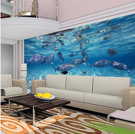 Kundenspezifische Wandtapete Aquarium 3D Fototapete Für Schlafzimmer  Wohnzimmer Sofa TV Hintergrund Wandbild Wand Papier