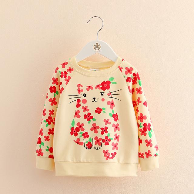 2017 nuevas niñas ropa de Bebé floral Suéter de cuello alto manga larga Chaqueta de ocio infantil wt-7369