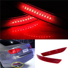 Car LED Tail light parking warning rear bumper reflector Lamp Auto Light for VW Volkswagen Jetta 2011 2012 2013 2014 Car styling стоимость