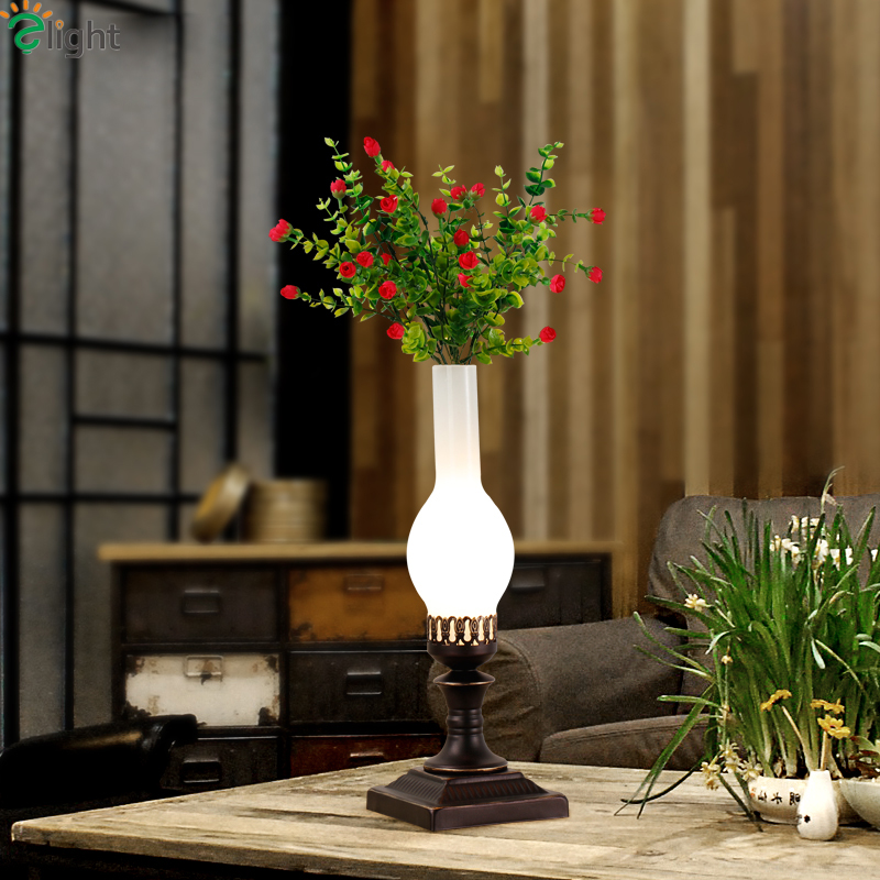 все цены на Modern Simple Plants E27 Led Table Lights Lustre Glass Bedroom Led Table Lamp Creative Led Lighting Light Loft Led Desk Fixtures