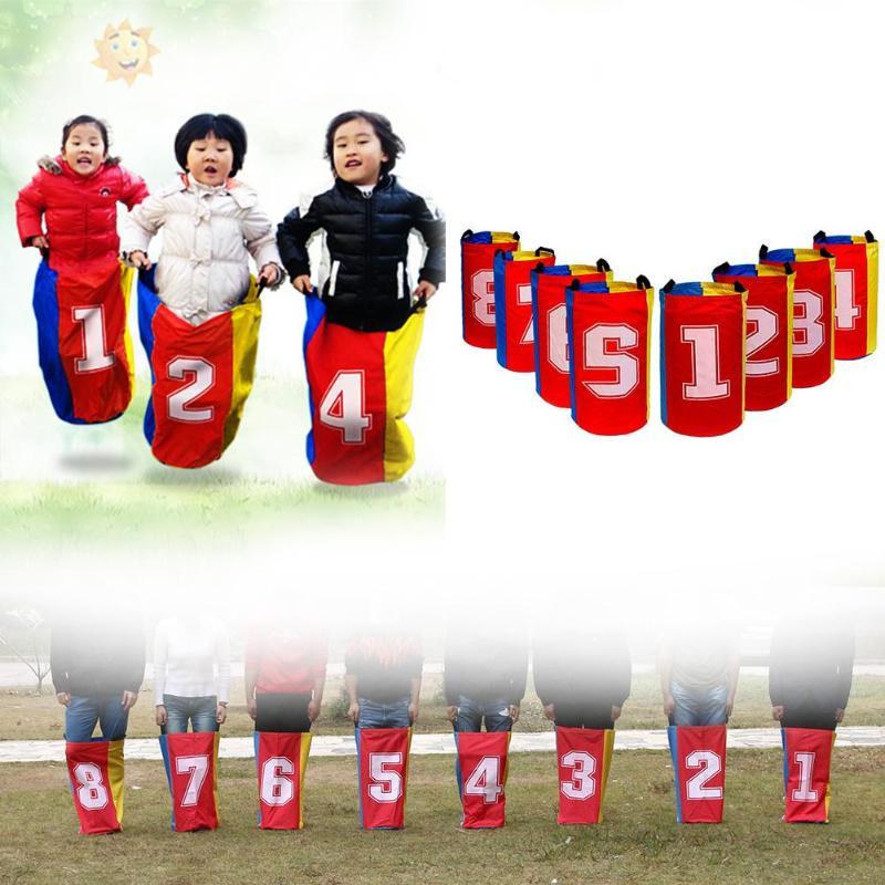 8 pièces plein air kangourou Hop sac saut formation équilibre jeux jouets pour enfants - 2