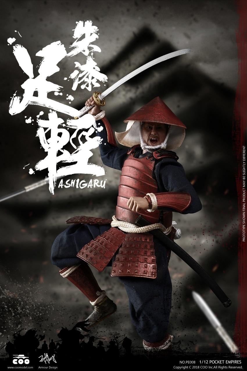 COOMODEL Japanese Samurai Soldier RED ARMOR ASHIGARU 1 12 Figure