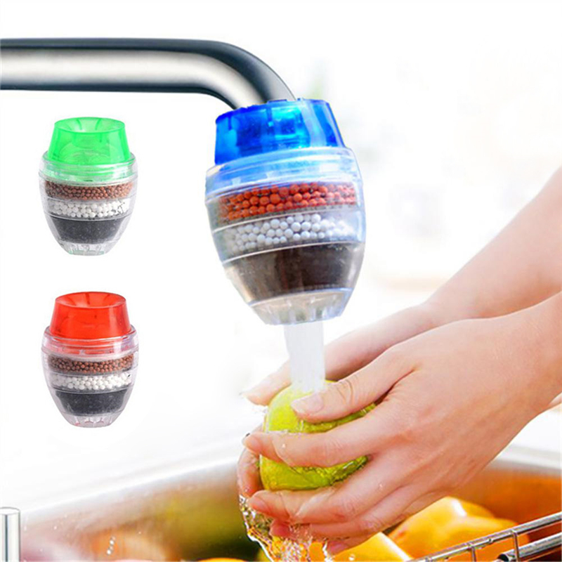 HiMISS Home 5 Layers Activated Carbon Water Purifier Kitchen Tap Filter Bathroom Faucet Filter Purification Tool